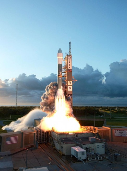 NASA Dawn spacecraft launches on United Launch Alliance Delta II rocket from Cape Canaveral Air Force Station Space Launch Complex 17 photo credit NASA posted on SpaceFlight Insider