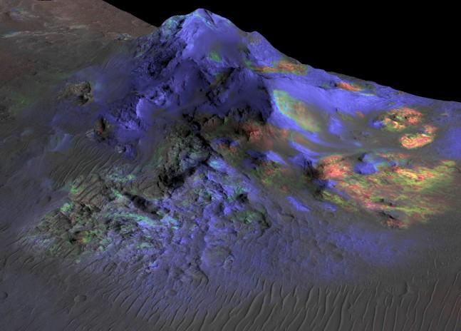 NASA Mars Reconnaissance Orbiter MRO image of Martian terrain NASA photo posted on SpaceFlight Insider