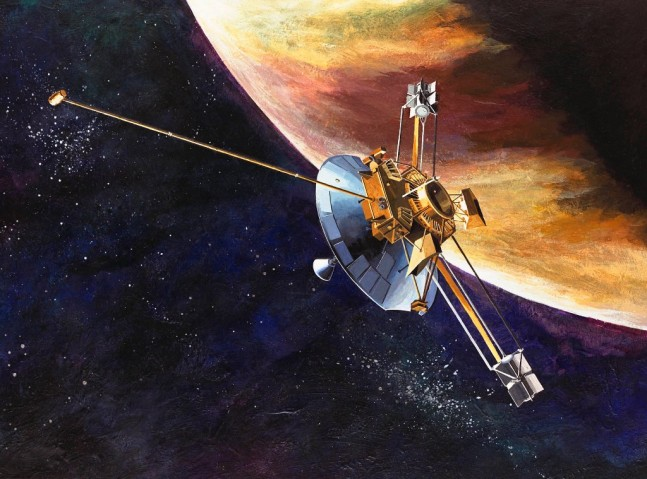 Pioneer 10 spacecraft passes by the planet Jupiter NASA image posted on SpaceFlight Insider