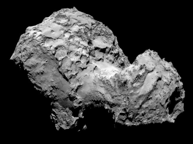 Rosetta_OSIRIS_NAC_comet_67P_20140803_1 European Space Agency image posted on SpaceFlight Insider