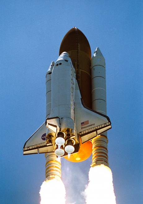 STS-121 launches from Kennedy Space Center's Launch Complex 39 in Florida NASA photo posted on SpaceFlight Insider