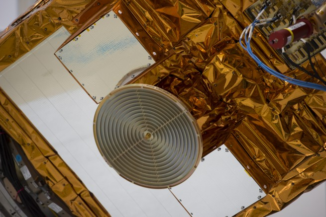 Sentinel 2A spacecraft during test in IABG photo credit European Space Agency posted on SpaceFlight Insider