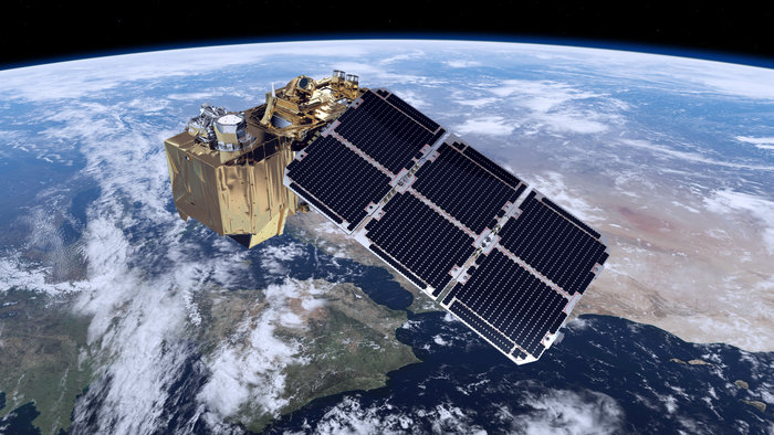 ESA's Sentinel-2A spacecraft will be placed into a polar, Sun-synchronous orbit image credit ESA posted on SpaceFlight Insider