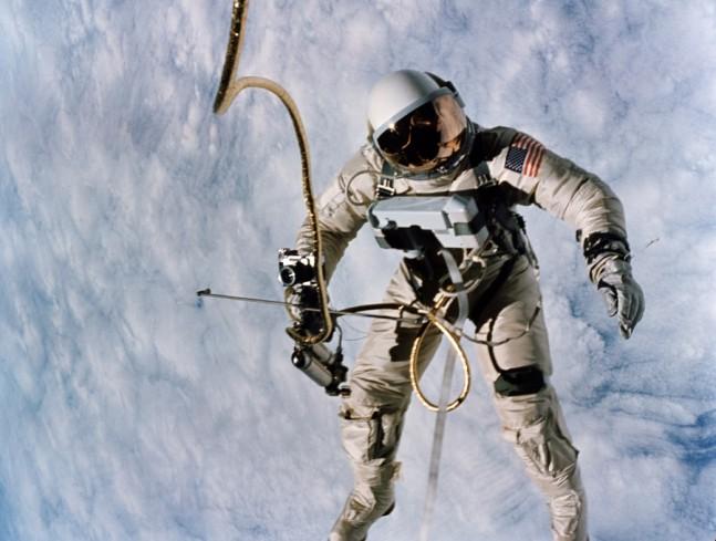 U.S. Astronaut Ed White spacewalk Gemini IV EVA Extra-Vehicular Activity NASA photo posted on SpaceFlight Insider