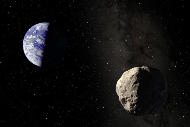 Asteroid Hitting Earth Wallpaper