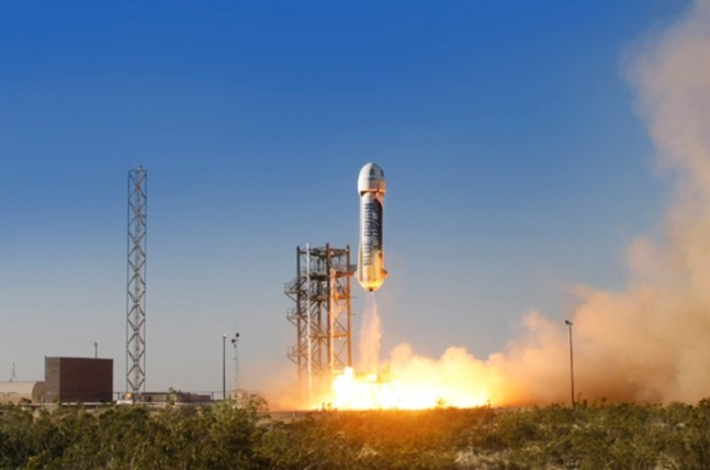 blue origin_launch_New Shepard photo posted on SpaceFlight Insider