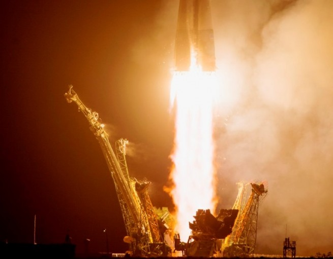 Expedition 40 launches from the Baikonur Cosmodrone atop a Soyuz rocket Photo Credit NASA posted on SpaceFlight Insider