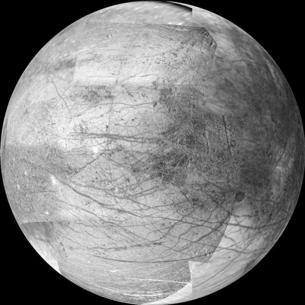 Composite image of Jupiter's moon Europa image credit NASA JPL posted on SpaceFlight Insider