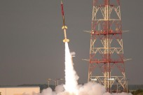 Terrier-Improved Orion suborbital sounding rocket launches from Wallops Flight Facility on June 25, 2015