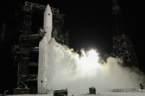 Angara-5 rocket launches from the Plesetsk Cosmodrome on Dec. 23, 2014