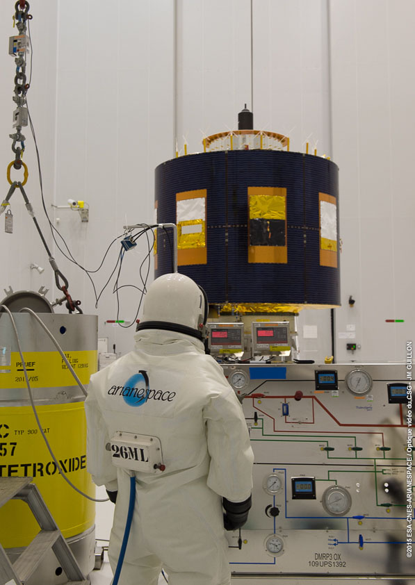 MSG-4 satellite being prepared for the July 15 launch
