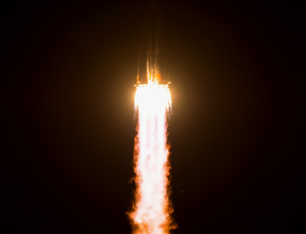 The Soyuz TMA-17M rocket launches from the Baikonur Cosmodrome in Kazakhstan on Thursday, July 23, 2015 carrying Expedition 44 Soyuz Commander Oleg Kononenko of the Russian Federal Space Agency (Roscosmos), Flight Engineer Kjell Lindgren of NASA, and Flight Engineer Kimiya Yui of the Japan Aerospace Exploration Agency (JAXA) into orbit to begin their five month mission on the International Space Station.Photo & Caption Credit: NASA / Aubrey Gemignani