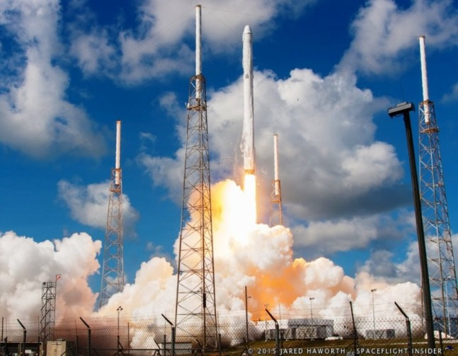 SpaceX CRS-7 Falcon 9 v1.1 lifts off from Cape Canaveral Air Force Station's Space Launch Complex 40 in Florida with the CRS 7 Dragon for NASA photo credit Jared Haworth / SpaceFlight Insider