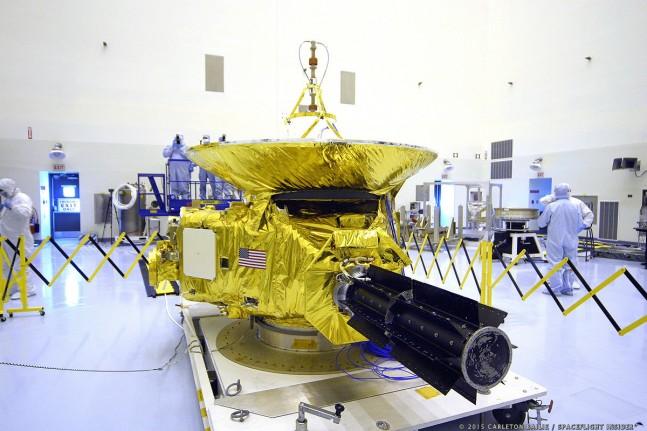 United Launch Alliance Atlas V 551 rocket NASA New Horizons clean room photo credit Carleton Bailie SpaceFlight Insider