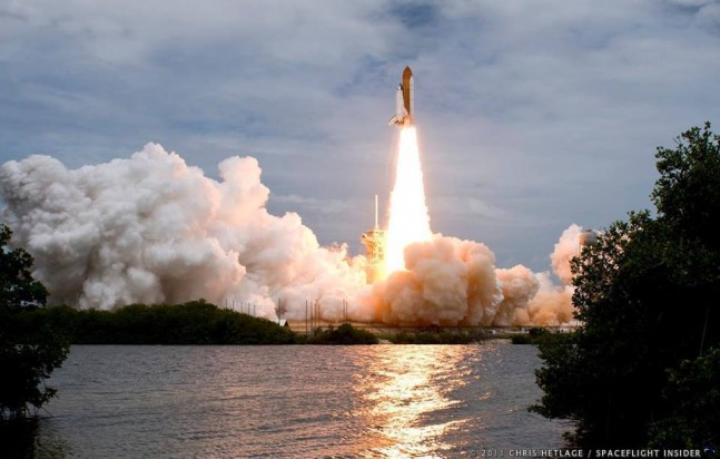 Atlantis ascends - for one final flight. Photo Credit: Chris Hetlage / SpaceFlight Insider