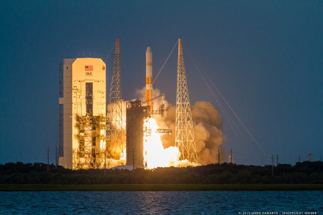 ULA successfully carried out the flight of the seventh Wideband Global SATCOM satellite at the very opening of a 39-minute long launch window on July 23, 2015. Photo Credit: Jared Haworth