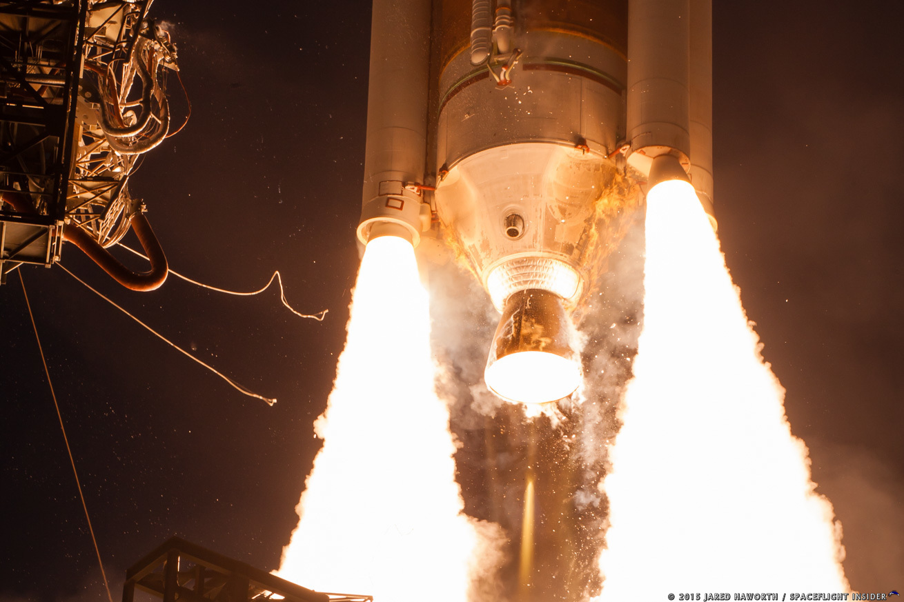 ULA successfully carried out the flight of the seventh Wideband Global SATCOM satellite at the very opening of a 39-minute long launch window on July 23, 2015. Photo Credit: Jared Haworth / SpaceFlight Insider