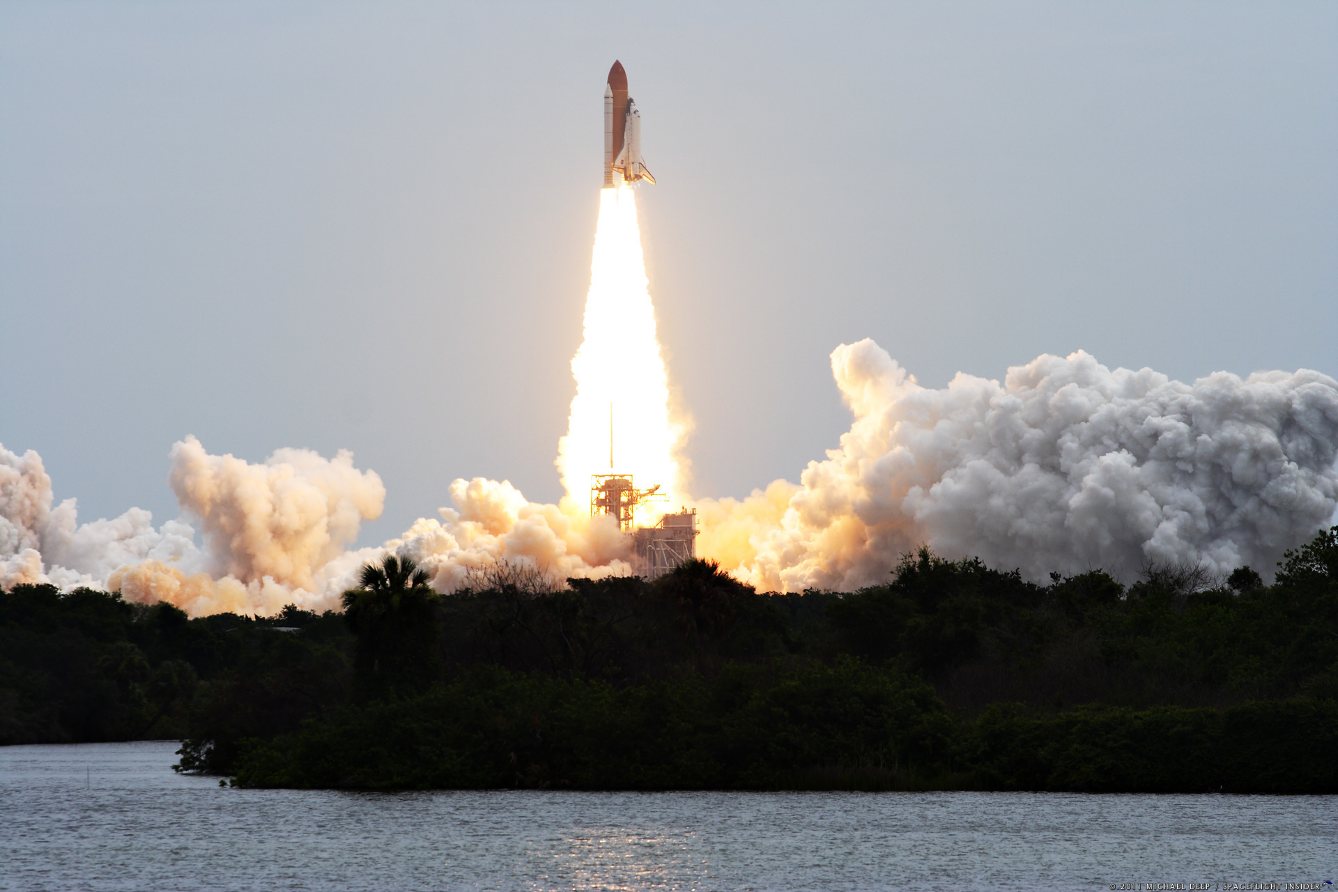 The final space shuttle mission, STS-135 started with a launch on July 8, 2011 - closing out a 30 year era of accomplishment. Photo Credit: Mike Deep / SpaceFlight Insider