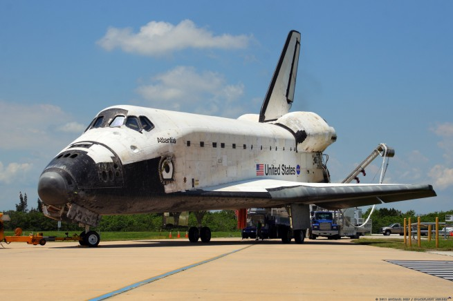 Space Shuttle Atlantis after STS-135  at NASA's Kennedy Space Center in Florida Photo Credit: Mike Deep SpaceFlight Insider