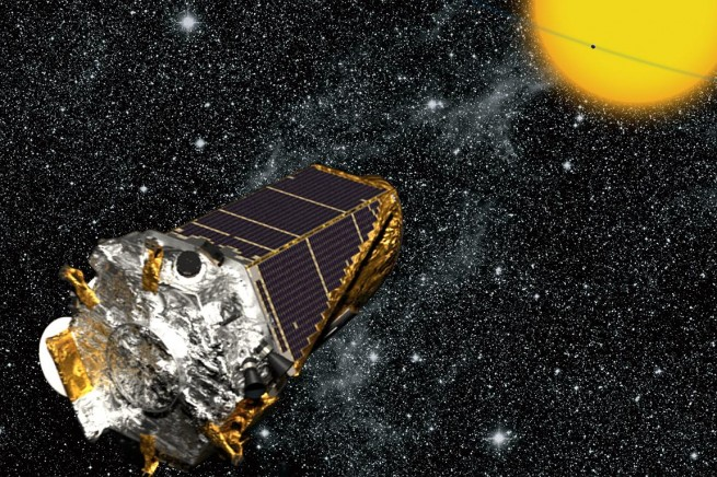 Artist's rendition of Kepler spacecraft.