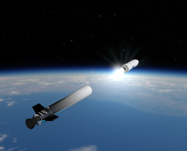Artist's concept of LauncherOne.