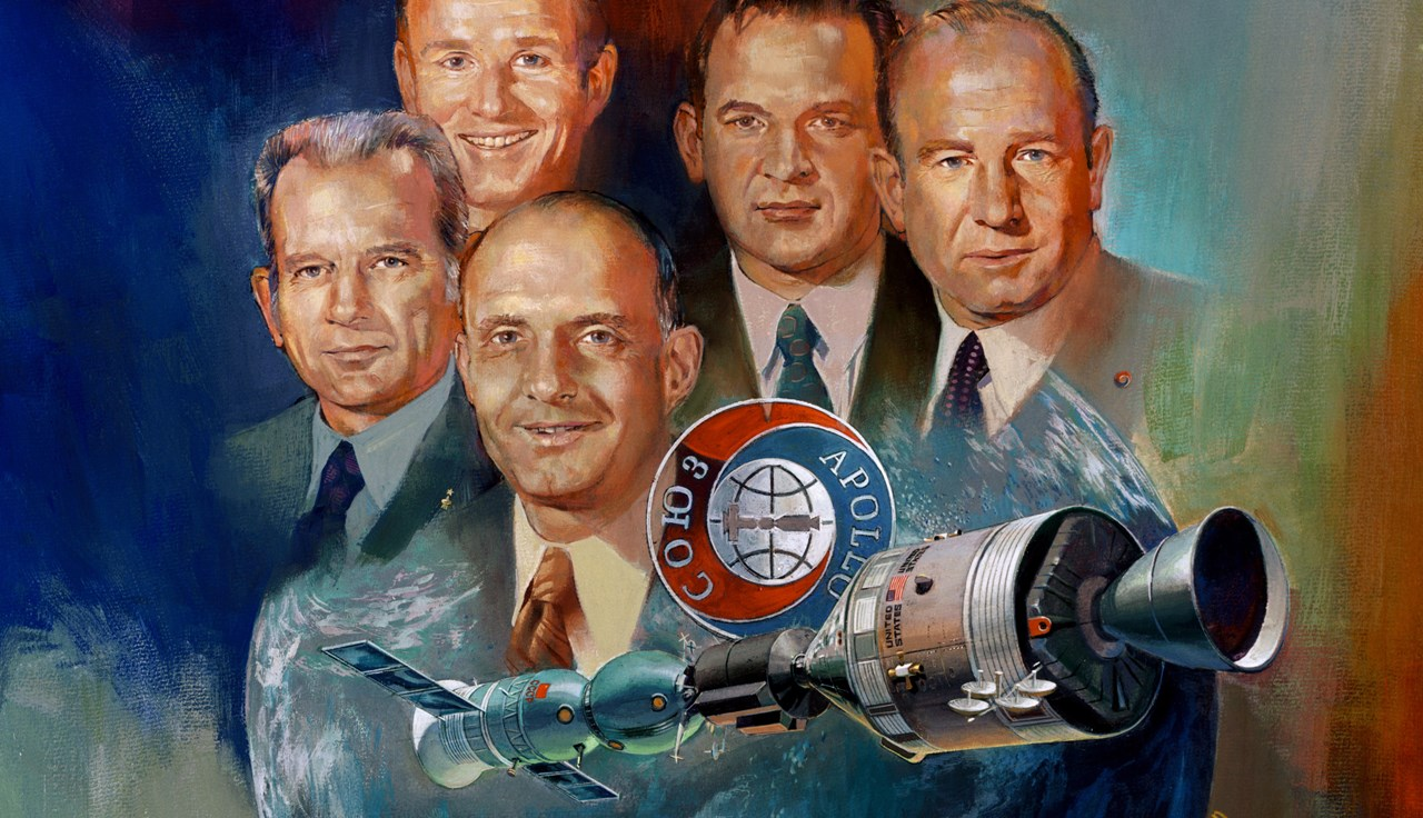NASA Apollo Soyuz Test Project Thomas Stafford Deke Slayton Vance Brand NASA image posted on SpaceFlight Insider