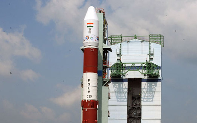 Polar Satellite Launch Vehicle at the Satish Dawawn launch pad India Times photo posted on SpaceFlight Insider