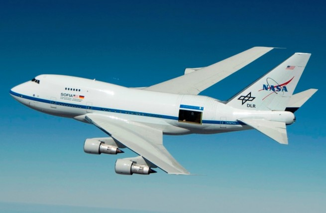 NASA's SOFIA airborne observatory. Photo Credit: NASA-Jim Ross