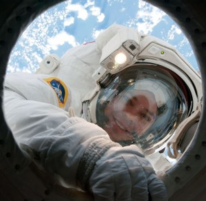 STS-130_EVA2_Robert_Behnken NASA photo posted on SpaceFlight Insider