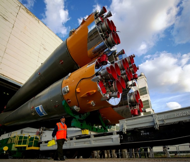 Soyuz-U-rocket-moving-out-to-the-launch-site-at-the-Baikonur-Cosmodrone-in-Kazakhstan-photo-credit-NASA-posted-on-SpaceFlight-Insider