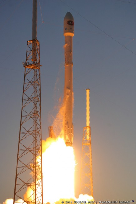 SpaceX Falcon 9 v1.1 rocket with NOAA NASA photo credit Mike Deep SpaceFlight Insider