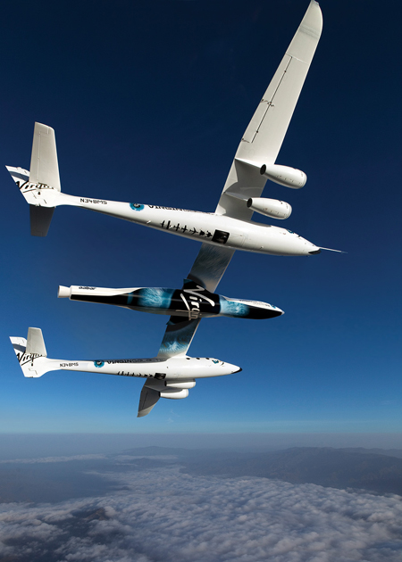 Virgin Galactic LauncherOne WhiteKnightTwo image posted on SpaceFlight Insider