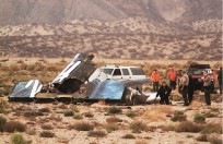 The Wreckage of SpaceShipTwo. Photo Credit: Alex Horvath/Barcroft USA