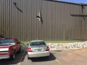 Damage to building caused by August 21, 2014, Cimarron pressure vessel failure