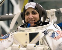 Astronaut Nicole P. Stott at Johnson Space Center training for STS-133 NASA photo posted on SpaceFlight Insider