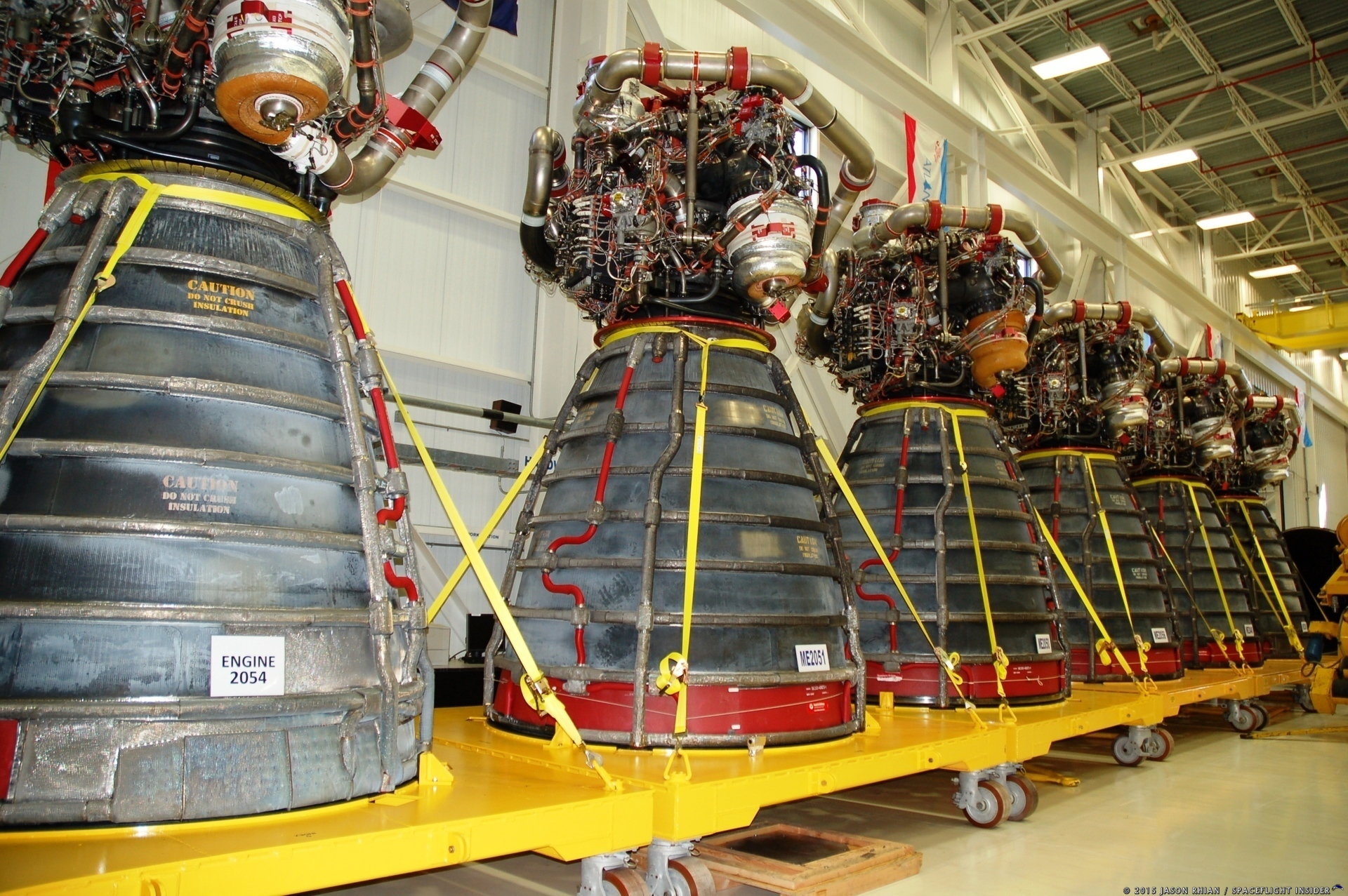 RS-25 rocket engines at Kennedy Space Center in Florida. Photo Credit: Jason Rhian SpaceFlight Insider
