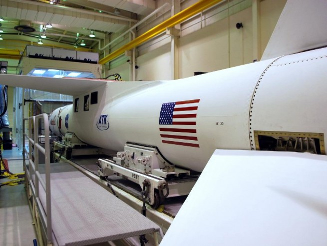 Orbital Pegasus XL booster being prepared for flight. Photo Credit NASA posted on SpaceFlight Insider