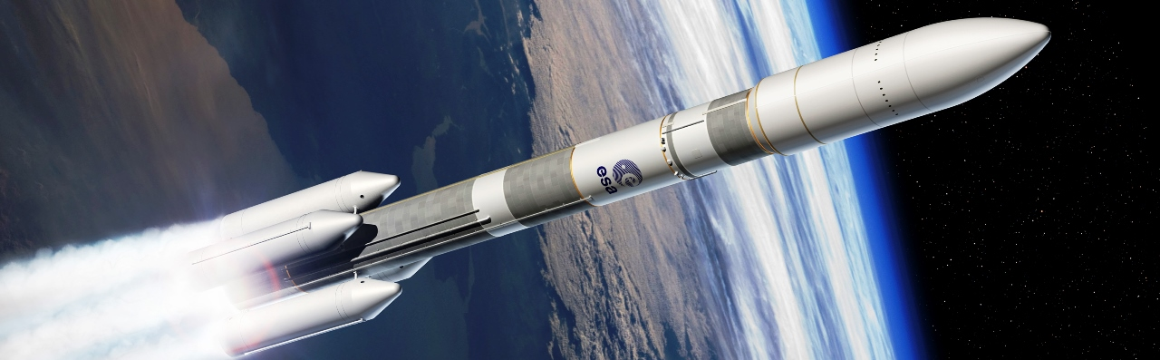 Artist's depiction of Ariane 6 leaving Earth's atmosphere. Image Credit ArianeSpace posted on SpaceFlight Insider