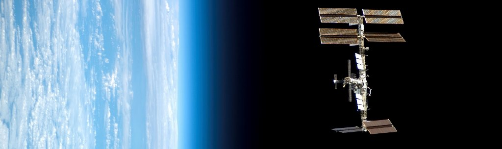International Space Station in orbit above Earth NASA photo posted on SpaceFlight Insider