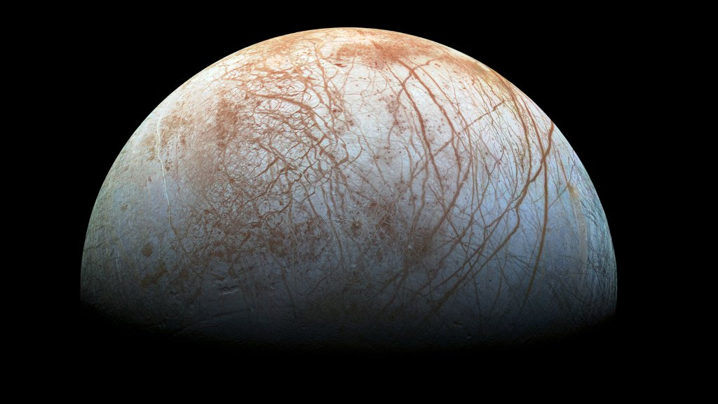 NASA Cassini spacecraft image of Saturn's moon Europa. NASA photo posted on SpaceFlight Insider