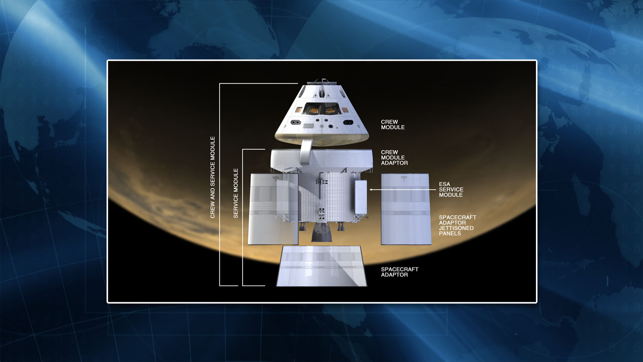 NASA Orion spacecraft infographic exploded view NASA image posted on SpaceFlight Insider