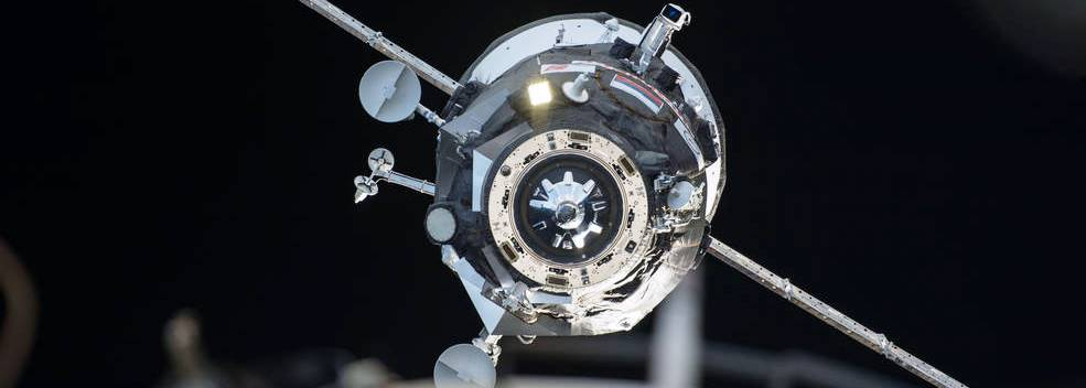 The Russian Progress M-26M cargo craft delivered food, fuel and supplies to the International Space Station on Feb. 17, 2015 and is set to undock and burn up in the Earth's atmosphere on re-entry on Aug. 14, 2015. Photo Credit: NASA