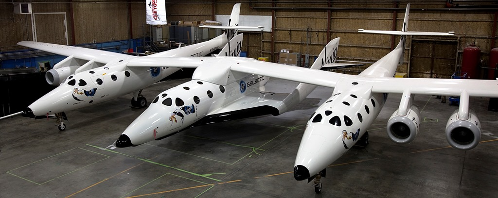 The unveiling of SpaceShipTwo WhiteKinght Two at Mojave, California. Photo Credit: Virgin Galactic / Scaled Composites