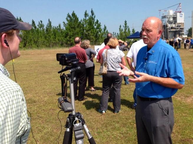 SpaceFlight Insider speaks with Aerojet Rocketdyne's Jim Paulsen. Photo Credit: Aerojet Rocketdyne