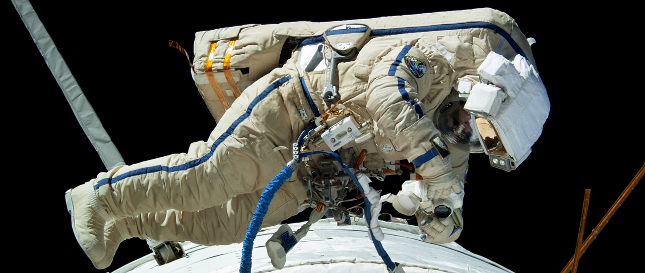 Archive photo of Russian cosmonaut on an EVA outside the International Space Station. Photo Credit: NASA