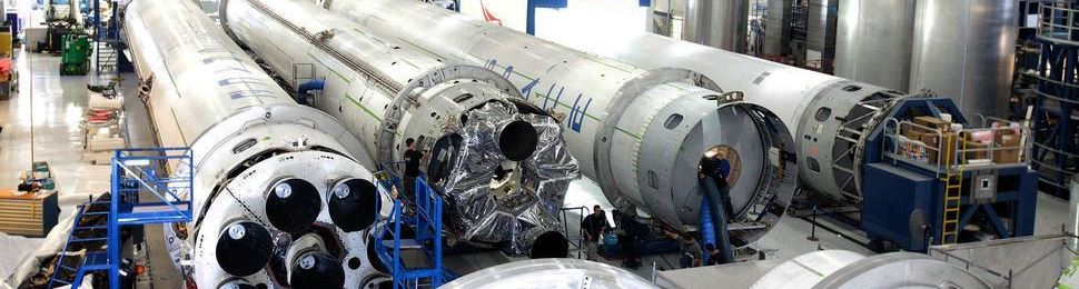 Falcon 9 v1.1 rockets being assembled in Hawthorne, California SpaceX photo posted on SpaceFlight Insider