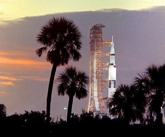 NASA Apollo Program Saturn V Moon rocket Kennedy Space Center Florida photo credit Retro Space Images NASA posted on SpaceFlight Insider