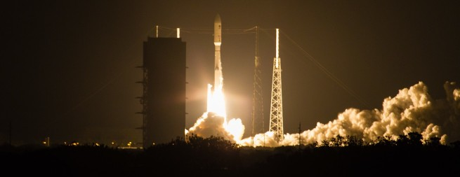 The sixth Atlas V 551 lifts of from Cape Canaveral's Space Launch Complex 41 in Florida with MUOS-4. Photo Credit: Jared Haworth / SpaceFlight Insider