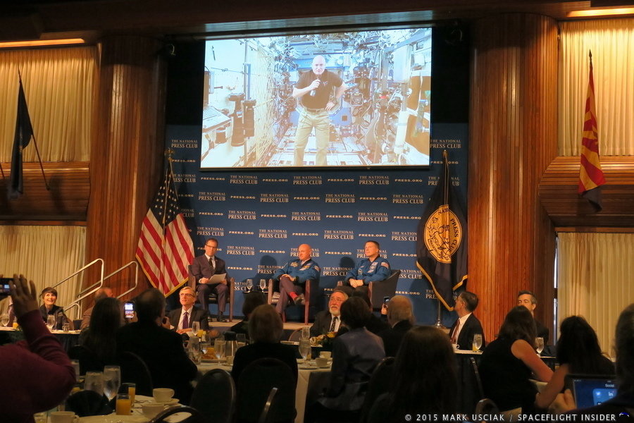 National Press Club breakfast Mark Kelly Terry Virts photo credit Mark Usciak / SpaceFlight Insider