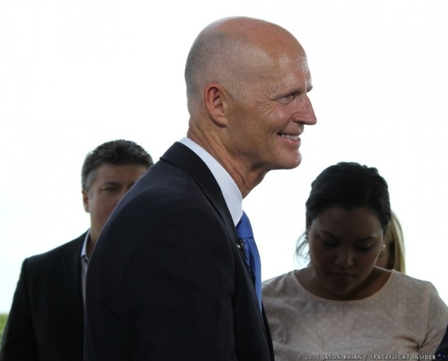 Florida Governor Rick Scott at Cape Canaveral Air Force Station Space Launch Complex 36 photo credit Jason Rhian SpaceFlight Insider